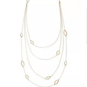 NWOT Rachel Roy multi-strand necklace in gold-tone
